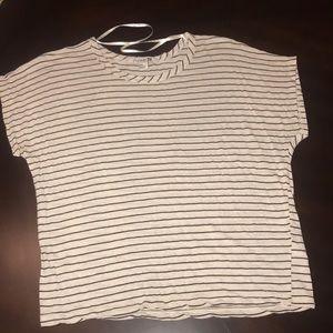 Cream and black Striped T-shirt